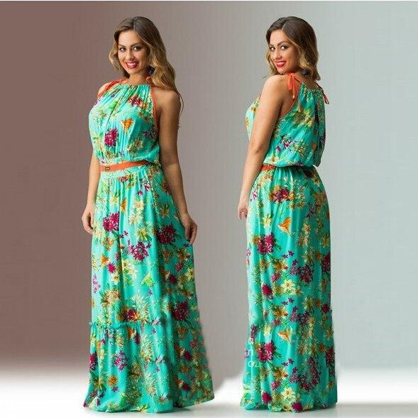 Cotton plus size maxi dresses - Dressed for less