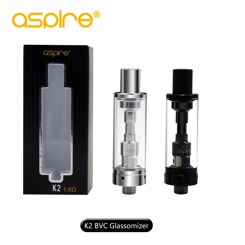 все цены на The Newest Original Aspire BVC K2 Clearomizer/Atomizer 1.8Ml BVC Tank with 1.6ohm Kanth al and Organic Cotton Coil Head 1Pcs/Lot