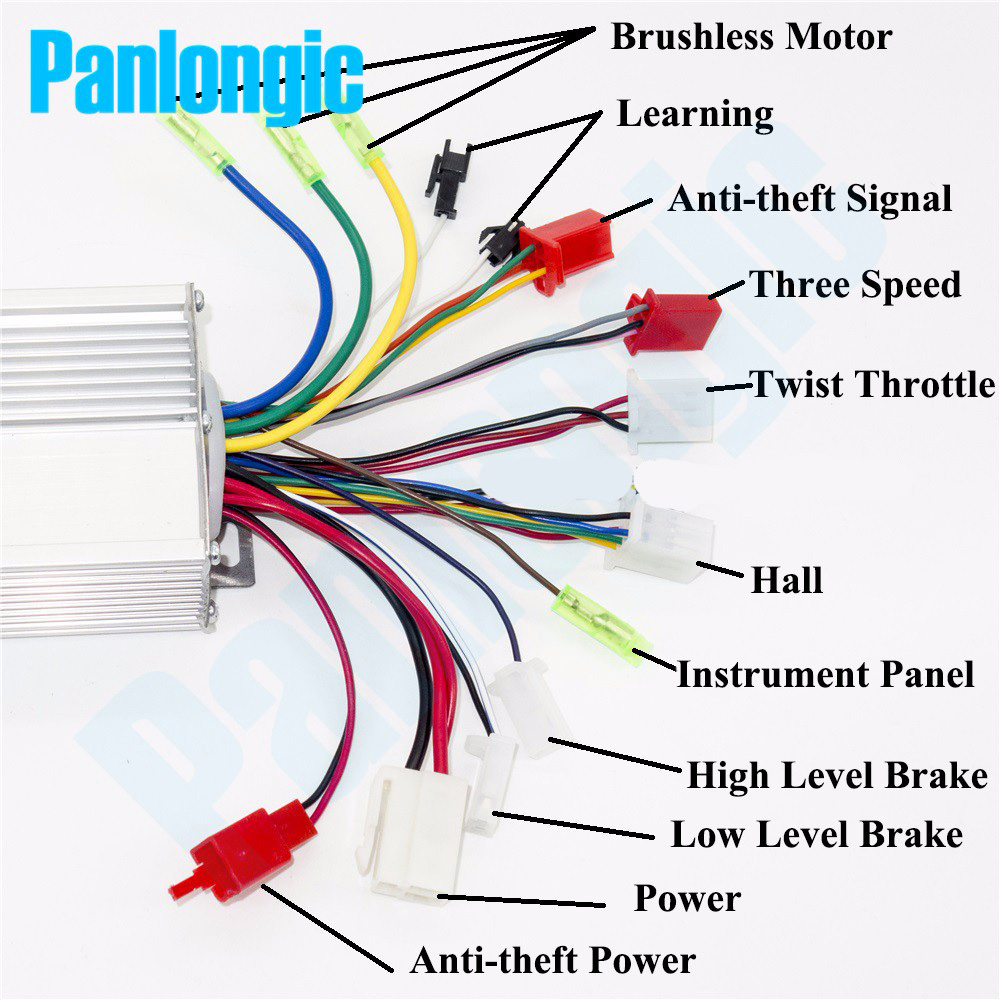 Panlongic 36v 48v 350w Electric Bicycle E Bike Scooter Brushless Dc Motor Controller Bldc Speed In From Home Improvement On