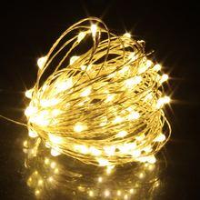 Fio de cobre de prata led, 1m/2m/5m/10m/20m, fio, fada luzes iluminação para feriados guirlanda de árvore de natal decoração de festa de casamento
