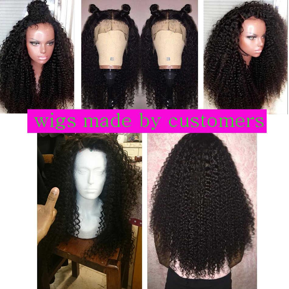 Mechones de pelo brasileño rizado profundo Virgo, extensiones de cabello humano Remy, negro Natural 1B 1/3/4 mechones