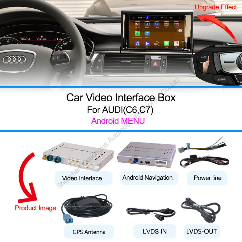 car gps video interface for for 3g mmi audi a1 q3 a4 a5 q5 a6 q7 a8 a1 q3 a4 a5 q5 a6. Black Bedroom Furniture Sets. Home Design Ideas