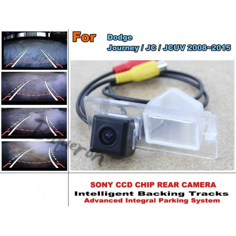For Dodge Journey / JC / JCUV 2008~2015 Car Intelligent Parking Tracks Camera / HD Back up Reverse Camera / Rear View Camera for dacia duster 2010 2014 car intelligent parking tracks camera hd back up reverse camera rear view camera