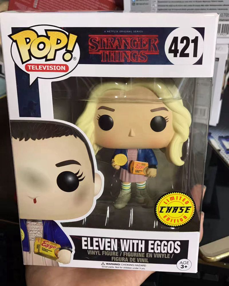 Exclusive Funko pop Official TV: Stranger Things - Eleven with Eggos Chase Vinyl Figure Collectible Model Toy with Original Box  exclusive funko pop official street fighter special attack ryu vinyl action figure collectible model toy with original box