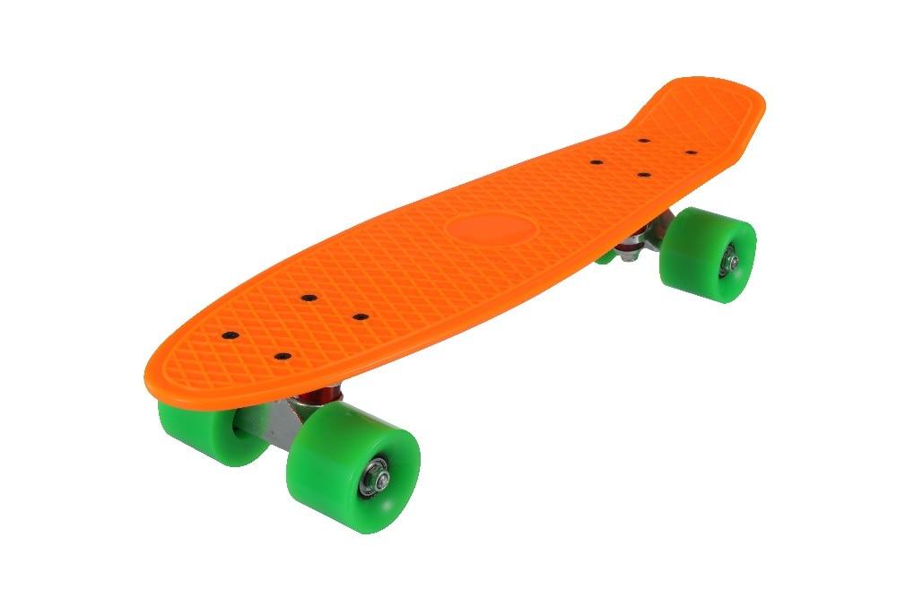 Nuevo 5 colores Pastel cuatro ruedas 22 pulgadas Mini Cruiser Skateboard Street Long Skate Board deportes al aire libre para adultos o niños - 6