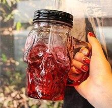 Envío Libre 500 ml Calaveras de Colores con la Jarra de Cerveza de Vidrio Grande cerveza de barril un frasco novelty pesada base de cristal cara del cráneo