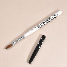 1 PCS Crystal Acrylic Nail Art Pen Brush UV Gel Painting Detachable Manicure Brushes Tool Design