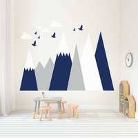 Three Colors Mountain Vinyl Wall Sticker Decals Home Decor For Kids Baby Room Removable Cute Nursery Unique Murals Gift