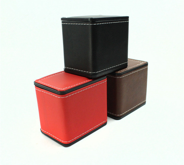 Delicieux Top Brown Leather Watch Box Fashion Brown Watch Storage Boxes Brand  Bracelet Packaging Box Watch Gift