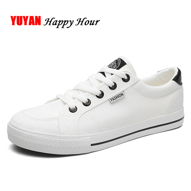 259112088617ee New 2018 Fashion Sneakers Men Canvas Shoes Low top Mens Casual Shoes Male  Brand Black White Shoes K116
