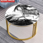 Black and white paint texture pattern desktop protective film table coffee table sticker waterproof self-adhesive wall stickers