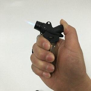 Image 5 - Encendedor de cigarros de butano Jet compacto caliente antorcha Turbo Gas cigarrillo 1300 C encendedor a prueba de viento sin Gas