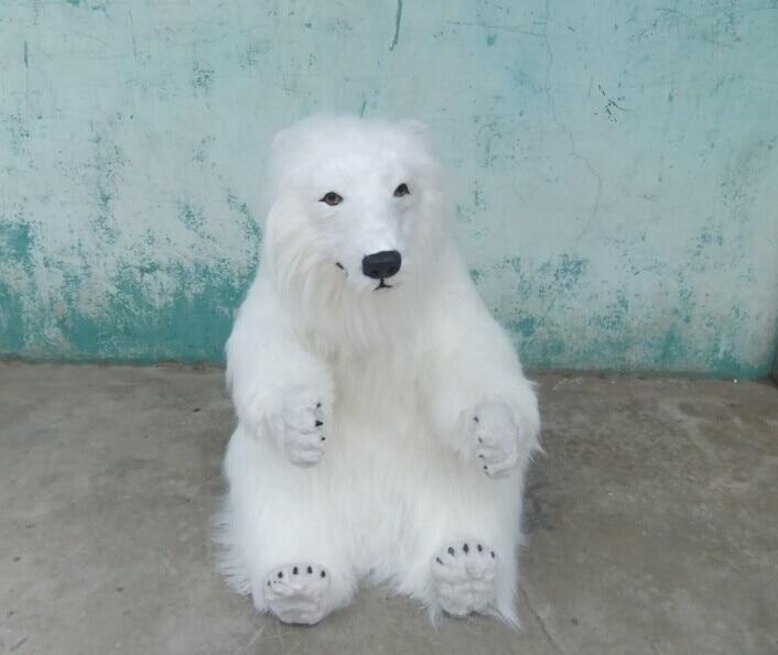 Grande nouvelle simulation ours polaire jouet artisanat belle grande poupée ours polaire blanc cadeau environ 70x60 cm