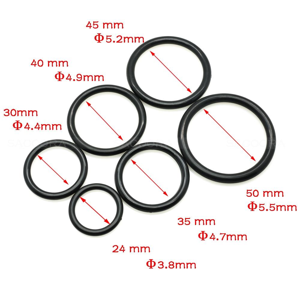 24mm 30mm 35mm 40mm 45mm 50mm Inner Dia. Plastic O Ring Apparel ...