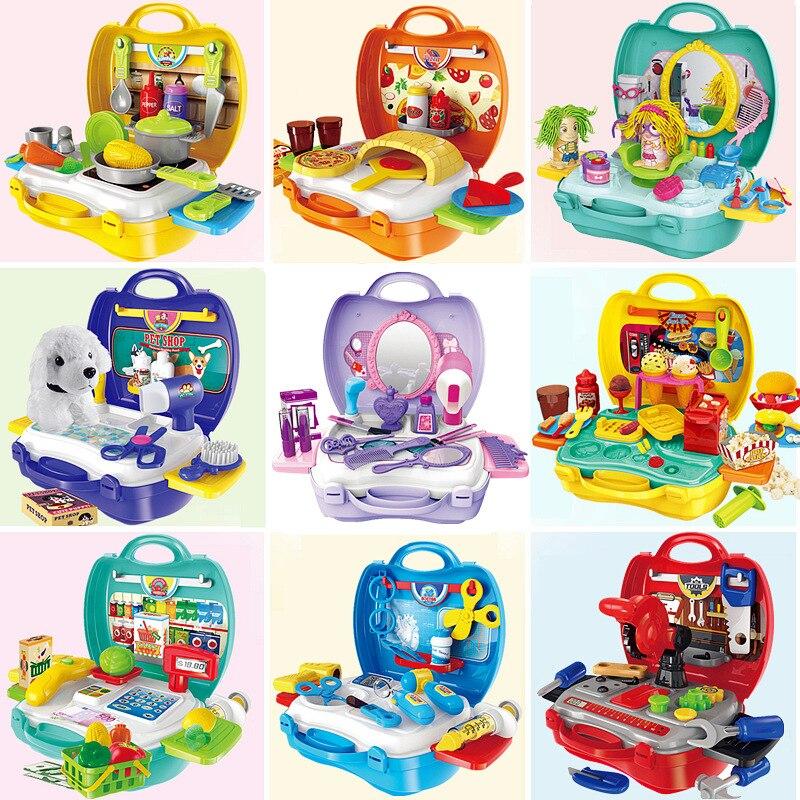 Us 1369 20 Offcosplay Cartoon Mini Kreatywny Dla Dzieci Piękny Rolę Udawaj że Bawisz Się W Kuchni Zabawki Kuchenne Zestaw Narzędzi Makijaż Z