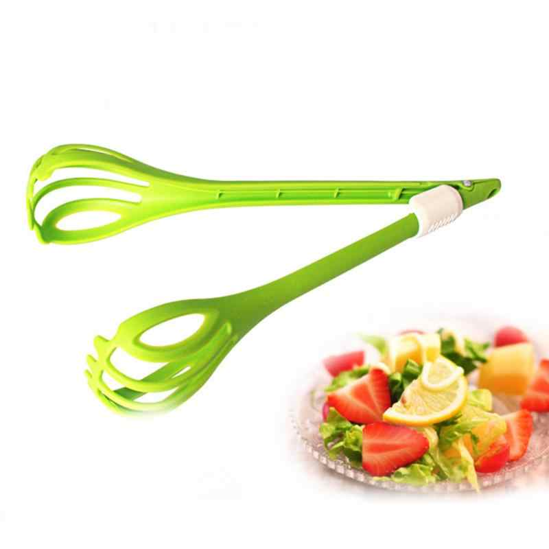 Multi-funtional Home kitchen Green Hand held Food ice cubes Clip Bakery Tool Tongs Plastic BBQ Bread Clip Snack Salad Clamp