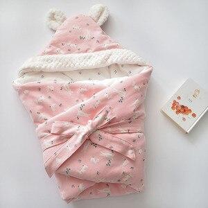 Image 2 - เด็ก Discharge ซองจดหมายสำหรับทารกแรกเกิดผ้าฝ้ายผ้าห่มเด็กนุ่ม WARM สำหรับ Baby GIRL BOY 80x80cm