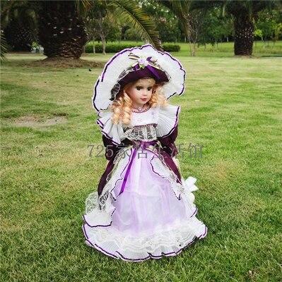 Hauteur 41 cm russie russe belle en céramique adorable bébé poupée collection poupée coeur maison rétro bureau décoration fille cadeaux