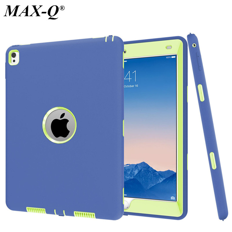 MAX-Q New Cover For ipad pro 9.7 inch Case Rugged Heavy Duty Shockproof Silicone + PC Hard Case cover For apple ipad Pro 9.7