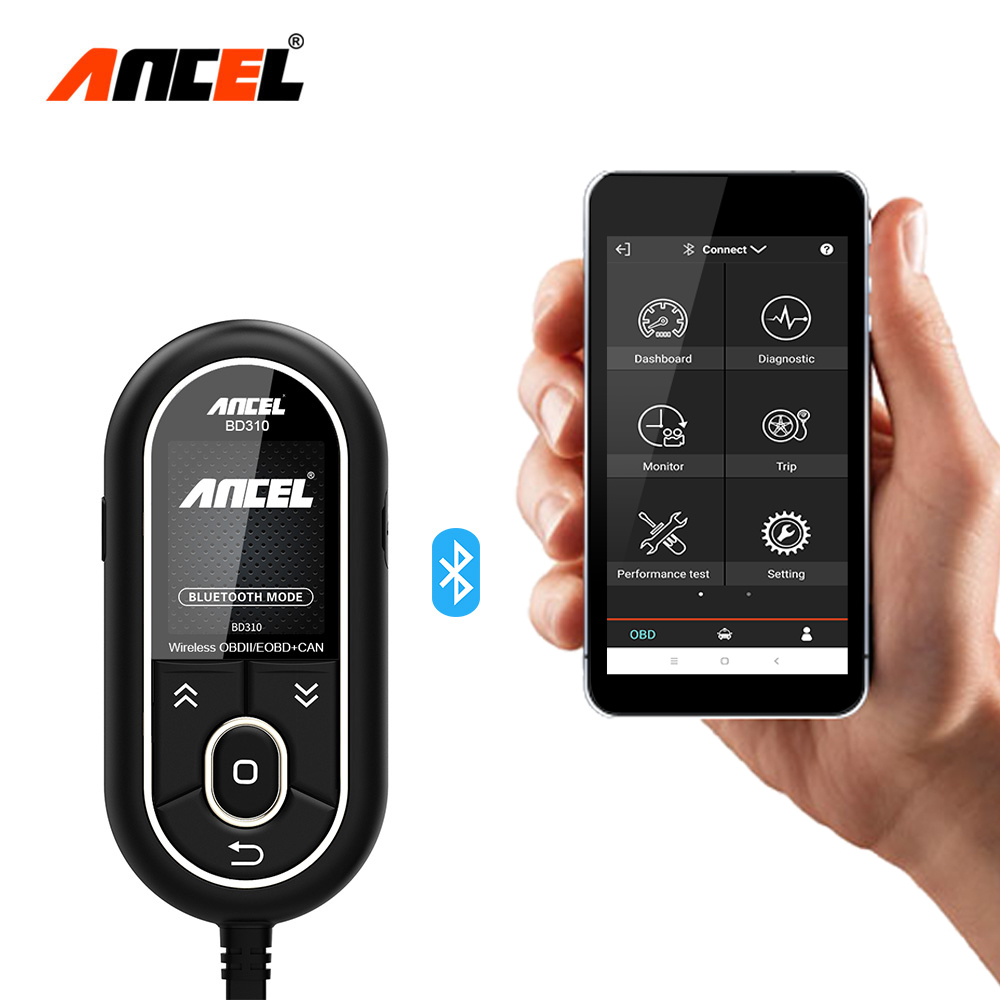 Ансель BD310 3 в 1 OBD2 сканер Bluetooth автомобильной сканер цифровой спидометр лучше, чем AD310 + A202 + EML327 автомобилей HUD Дисплей