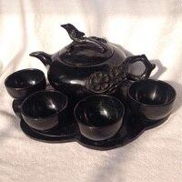 China black jade jade tea wine set function