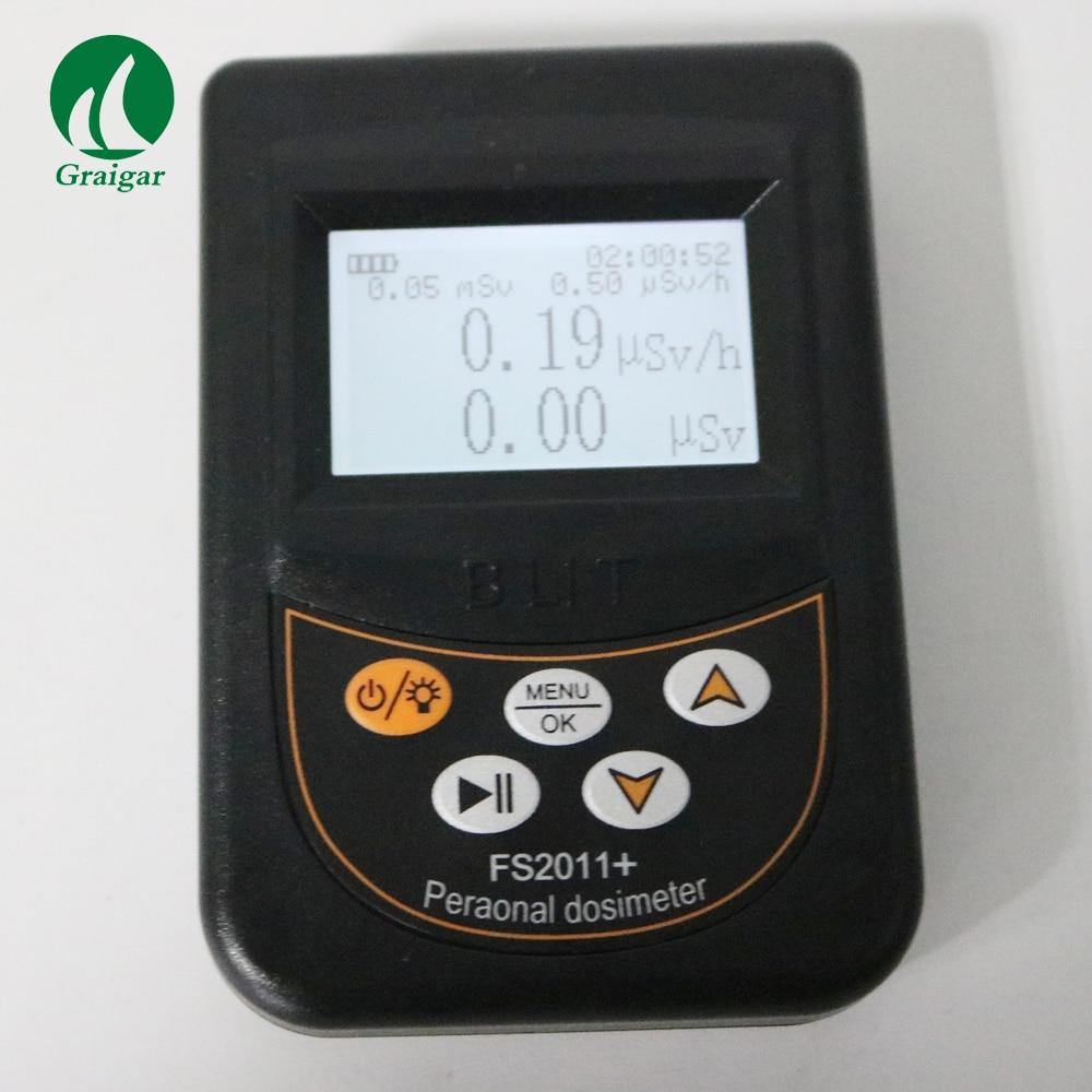 FS2011+ Peranonal Dosimeter Portable Radiation Detector Radiation Individual Alarm Device