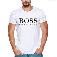 5c1b3fd66 Boss T Shirt Men 100% cotton streetwear T-shirts BOSS logo short sleeves  summer