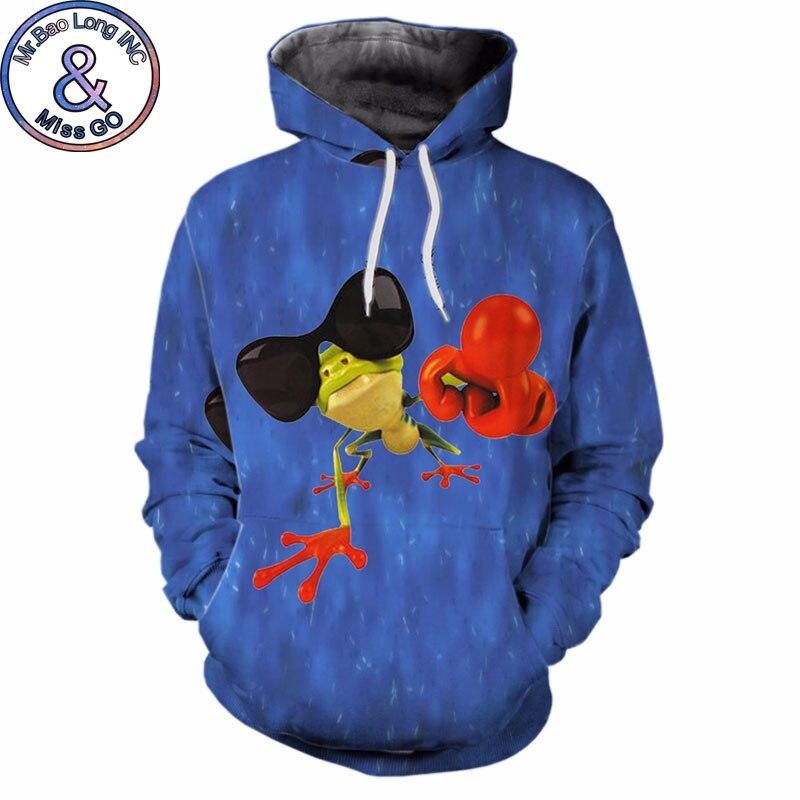 Cartoon Pepe Frog Hoodie Sweatshirt Men Women Funny 3D Animal Hoodies Sweatshirts Men Hip Hop Hooded Streetwear Tops Sweat Homme