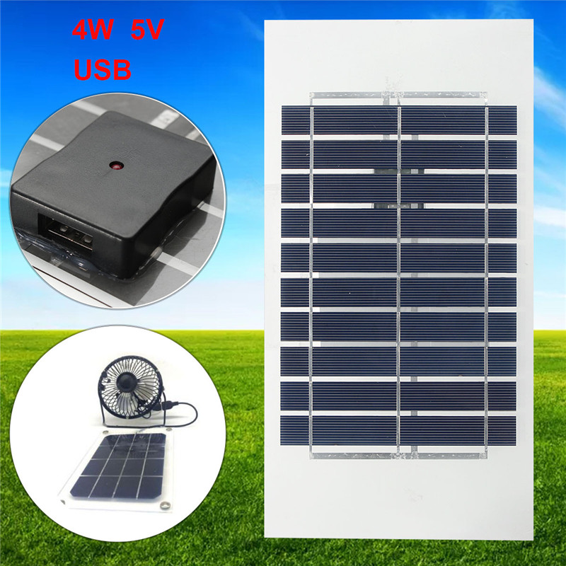 4W 5V 310*160mm Semi Flexible Mono Solar Panel With USB Interface With Battery Charger For Smart phones Fans 100w folding solar panel solar battery charger for car boat caravan golf cart
