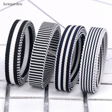 kewgarden 10mm 1cm Stripe Grosgrain Ribbons Handmade Tape Satin Ribbon DIY Bow Gorgy Elastic 12m /lot