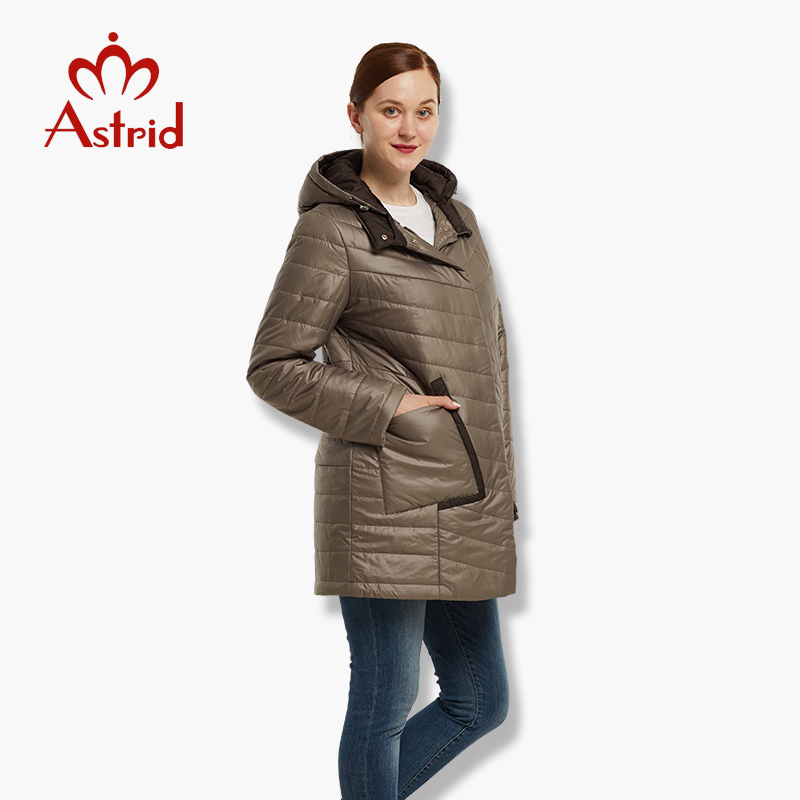 hot sale Astrid Winter Women's Warm jacket large Parkas New Cotton Outwear front pockets free shipping top brand AM-1865