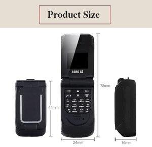 Image 5 - LONG CZ J9 Mini Bluetooth Lật Điện Thoại 2G Đa Ngôn Ngữ Thay Đổi Giọng Nói Trình Quay Số Bluetooth Tai Nghe 300MAh 0.66 Inch em Mini Điện Thoại
