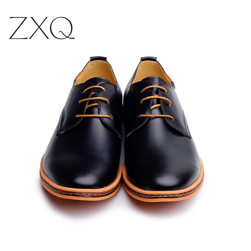 2019 Leather Casual Men Shoes Fashion Men Flats Round Toe Comfortable Office Men Dress Shoes Plus Size 38-48 3