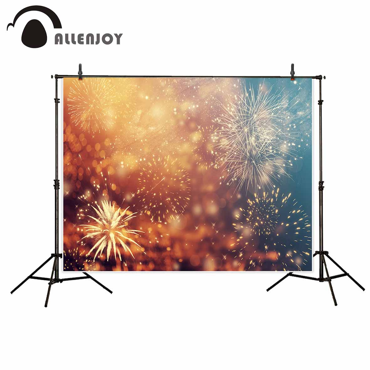 Allenjoy photography backdrop bokeh fireworks new year colorful background photobooth for a photo shoot photo studio printed