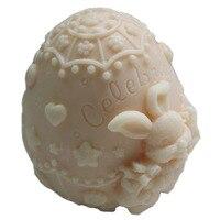 Grainrain 3D Пасхальный кролик белый гибкие Craft мыло формы ручной работы силиконовые Свеча Плесень