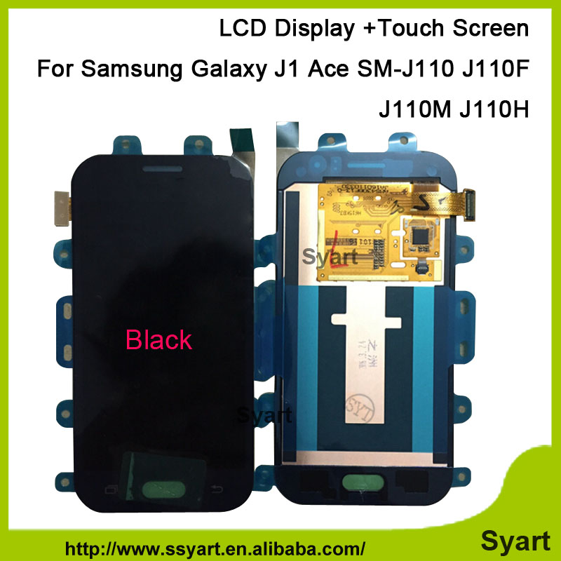 1pcs Black 4.3inch NEW LCD Display +Touch Screen Digitizer assembly Replacement Parts For Samsung Galaxy J1 Ace J110 J110F J110M saipwell lcd display digital wood moisture meter temperature humidity meter tester gm610