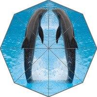 מטריית שמש מטריית דולפין מותאם אישית נחמד עיצוב אופנה אופנתי נייד שימושי מטריות מתנה טובה