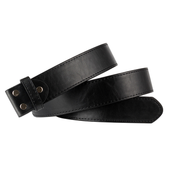 DIY belt body PU leather Smooth buckle belts balck without replace only