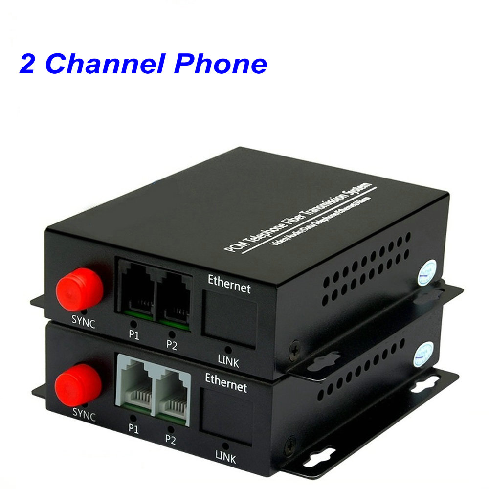 1 Pair 2 Channel- PCM Voice Tel Over Fiber Optic Multiplexer Extenders ,FC Optical Port,Support Caller ID and Fax Function