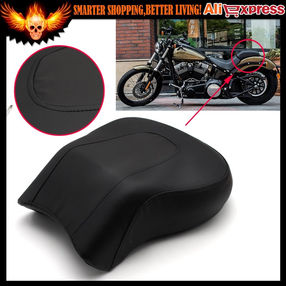 ФОТО Motorcycle Rear Pillion Passenger Seat For Harley Davidson Fat Boy FLSTF 2008-2014 2009 2010 2011 2012 2013