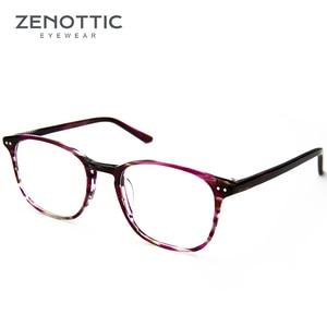 Image 3 - ZENOTTIC Retro Acetate Square Glasses Frames for Women Men Unisex Myopia Optical Eyewear Frames Prescription Eyeglasses