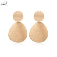 Badu Geometric Gold Silver Color Earring Large Metal Punk Dangle Drop Earrings for Women Party Jewelry Wholesale