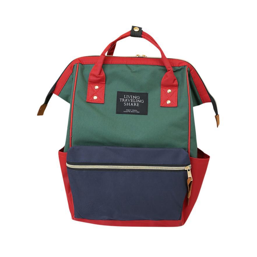 2018 backpack women Unisex Fashion patchwork Backpack School Travel Bag Double Shoulder Bag Zipper Bag 5.16