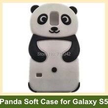 Прекрасный 3D животный принт панда Мягкий силиконовый чехол для samsung Galaxy S V S5 i9600 10 шт./лот