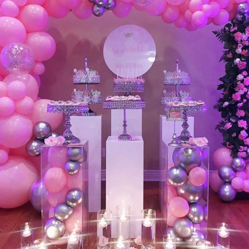 Acrylique blanc clair carré plinthe décoration de mariage fête et vacances bricolage décorations