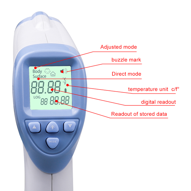 GL Infrared Forehead Thermometer Baby Digital Thermometer Blacklight  IR LCD Non-contact Body Temperature In Baby Thermometers | online brands