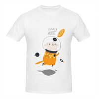 RTTMALL New Coming Geek Cotton Short Sleeve Space Dog Style Man Tee Shirt Tops Lowest Price