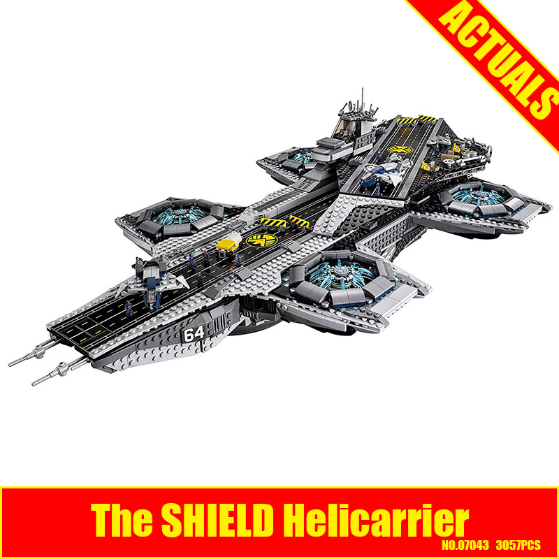 3057pcs LEPIN 07043 Super Heroes The SHIELD Helicarrier Model Building Kits Blocks Bricks Children Day's Toys brinquedos 76042 iscooter electric skateboard hoverboard self balancing scooter two 6 5 inch wheel with led bluetooth speaker 6 5 hover board