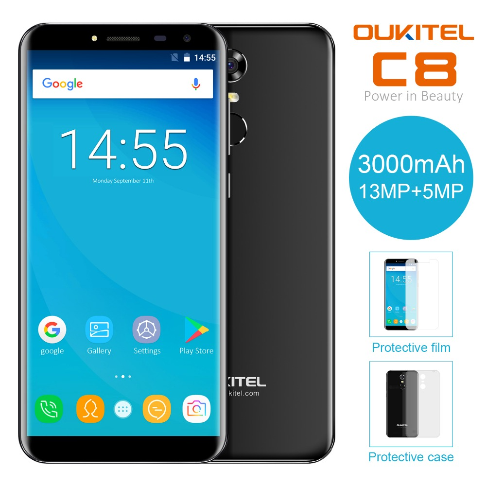 Oukitel-C8-55-Inch-189-HD-Screen-Mobile-Phone-MTK6580A-Quad-Core-2GB-RAM-16GB-ROM-13MP-Android-70-3000mAh-Touch-ID-Cellphone-2