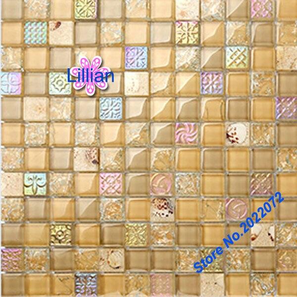 glass shell bathroom mosaic tile wall art deco floor tiles and ...